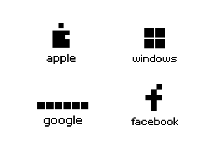 Pixelized Logos